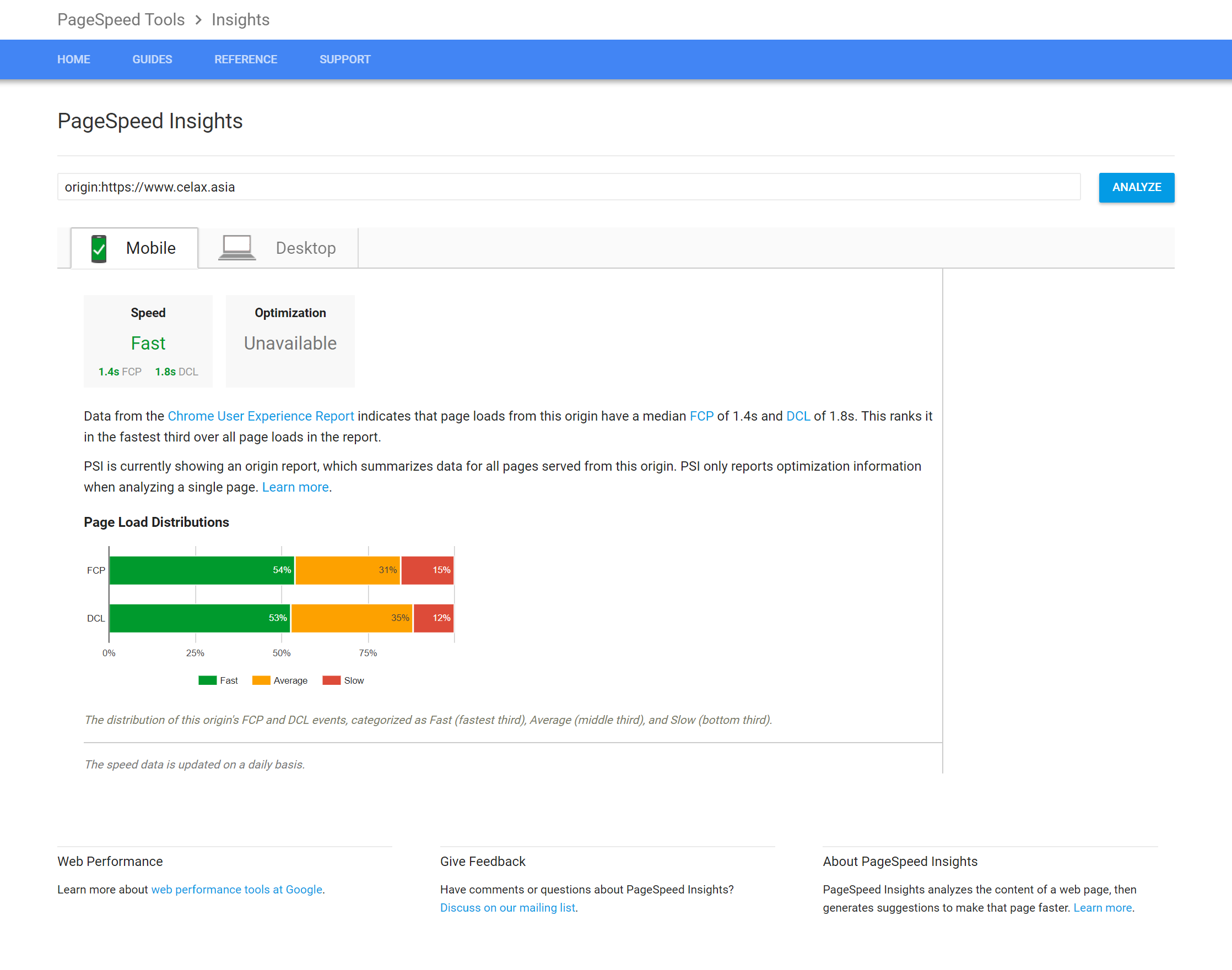 Googles Chrome User Experience Report